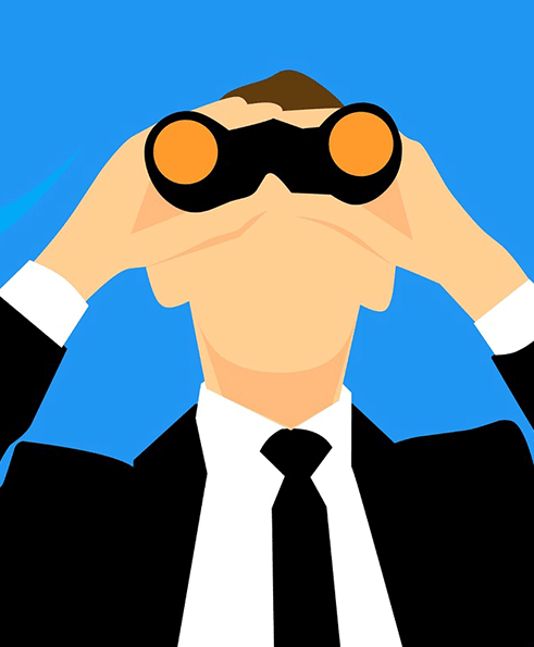 graphic of man with binoculars